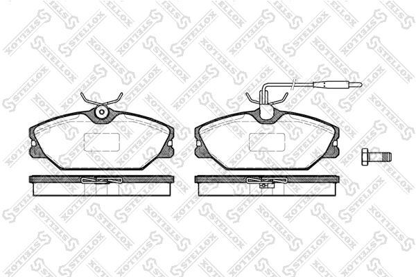 Колодки дисковые, STELLOX, 219012BSX