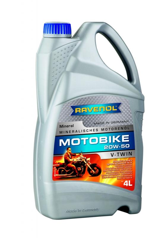 Моторное масло RAVENOL Motobike V-Twin Mineral 20W-50, 4л, 4014835839359