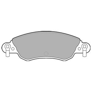 Колодки дисковые, DELPHI, LP1656