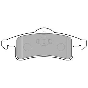Колодки дисковые, DELPHI, LP1558