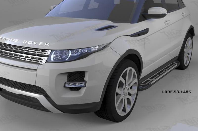 Пороги алюминиевые (Corund Silver) Land Rover Evoque (2011-) кроме к-ции Dynamic, LRRE531485