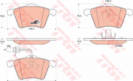 Колодки дисковые Передние, TRW, GDB1538