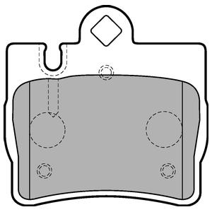Колодки дисковые, DELPHI, LP1697