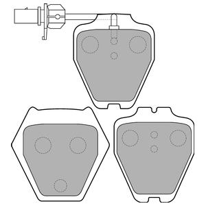 Колодки дисковые, DELPHI, LP1703