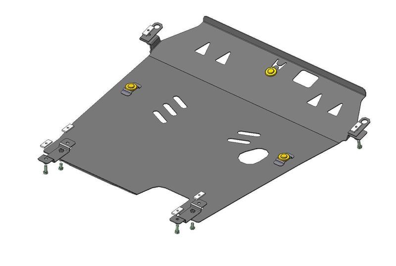 Защита картера двигателя, КПП Honda CrossTour 2010- V=3,5i (сталь 3 мм), MOTODOR10803