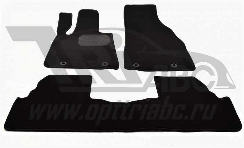 Коврики салона текстильный Lexus RX 270 (2012-) (Велюр, полиамид)(подпятник п/у)(черные), NPLVTE4706