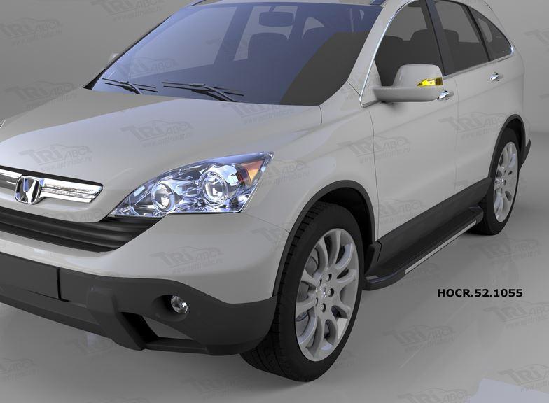 Пороги алюминиевые (Onyx) Honda (Хонда) CR-V (2007-2012), HOCR521055