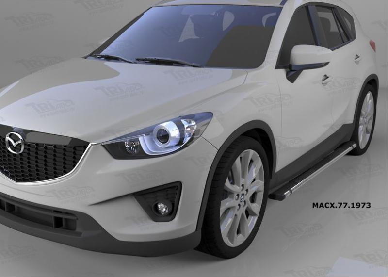 Пороги алюминиевые (Emerald Black) Mazda (Мазда) CX5 (2012-2015 /2015-), MACX771973