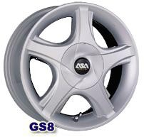 Колесный диск Asa GS8 4.5x14/4x100 D57.1 ET45 серебро