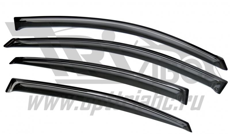Дефлекторы боковых окон Nissan Almera (Ниссан Альмера) SD (2013-) (темный), SNIALM1332