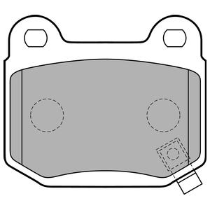 Колодки дисковые, DELPHI, LP1839