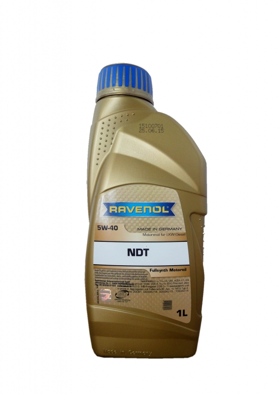 Моторное масло RAVENOL NDT, 5W-40, 1 л, 4014835839656