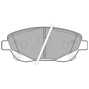 Колодки дисковые, DELPHI, LP2207