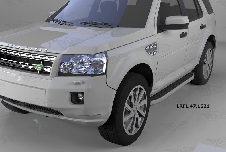 Пороги алюминиевые (Alyans) Land Rover Freelander 2 (2008-), LRFL471521