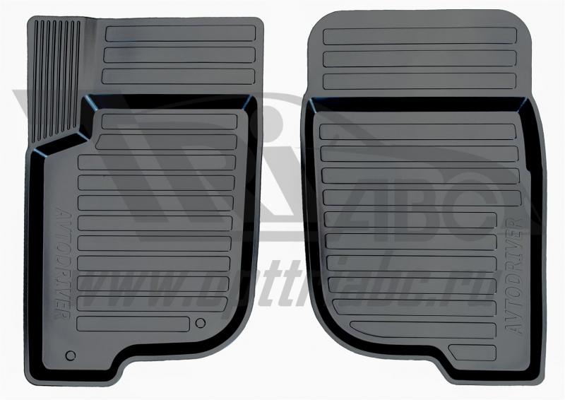 Коврики салона резиновые с бортиком для Mitsubishi Pajero Sport (2008-) (2 передних), ADRAVG1732