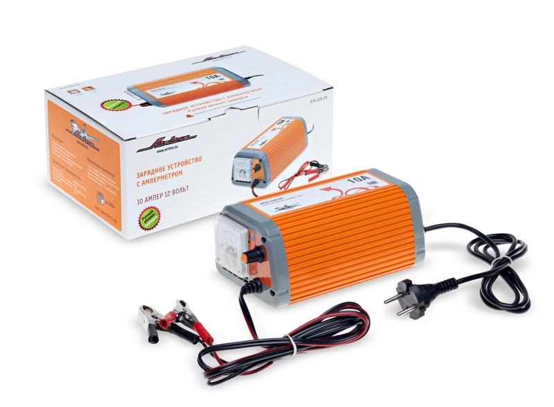Зарядное устройство AIRLINE, 12 В, 10 А, амперметр, ручной режим, ACH10A04
