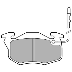 Колодки дисковые, DELPHI, LP696