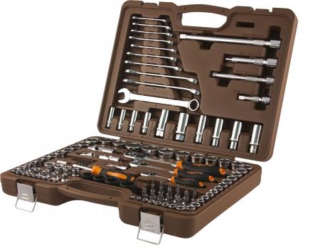 """Специальный набор инструмента, торцевые головки 1/4"""", 3/8"""", 1/2""""DR 4-32 мм и SAE 5/32"""" - 1-1/4"""", уда"""