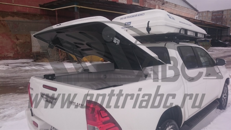 Крышка кузова для Toyota Hilux (двойная кабина) (08.2015-) (белая), ABCTOHILHTC02W
