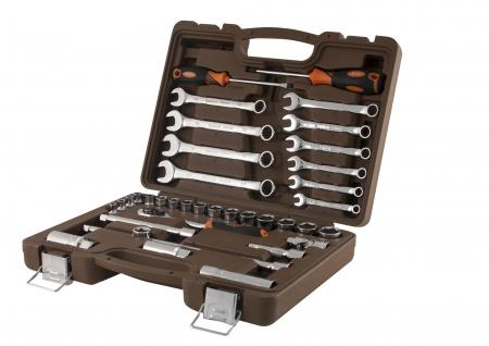 """OMT37S Универсальный набор торцевых головок 3/8""""DR и ключей комбинированных, 37 предметов"""