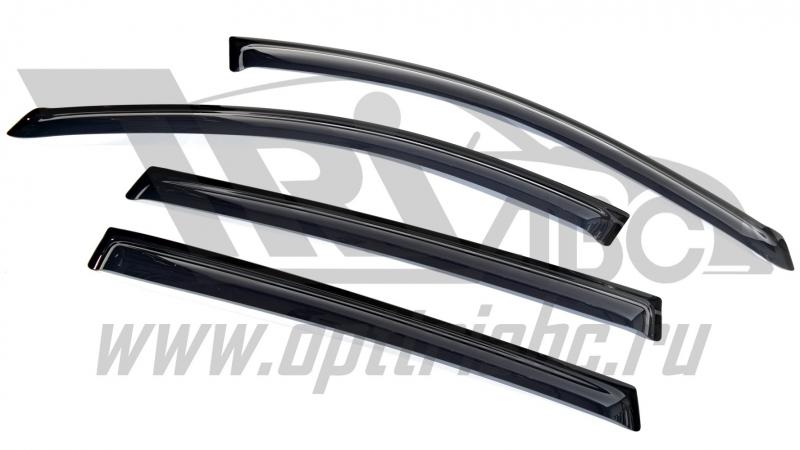 Дефлекторы боковых окон Chevrolet Cruze (Шевроле Круз) SW (2012-) (4шт.) (темн), SCHCRUW1232