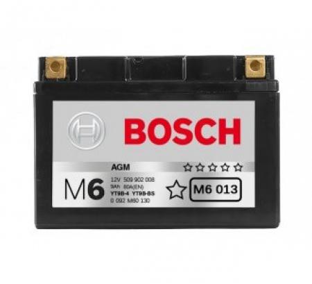 Аккумуляторная батарея Bosch Funstart AGM, 12 В, 9 А/ч, 80 А, 0092M60130