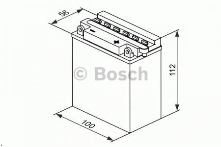 Аккумуляторная батарея Bosch, 12 В, 3 А/ч, 10 А, 018005030D