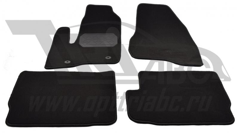 Коврики салона текстильный Ford Explorer (2010 (Велюр, полиамид)(подпятник п/у)(черные), NPA10VTE220