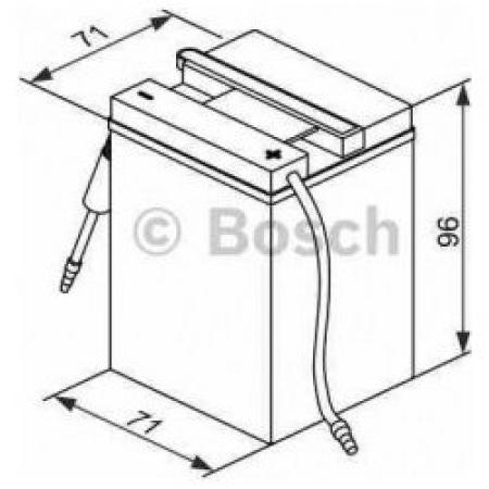 Аккумуляторная батарея Bosch Funstart FreshPack, 6 В, 4 А/ч, 10 А, 0092M4F040