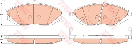 Колодки дисковые Передние, TRW, GDB4606