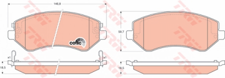 Колодки дисковые Передние, TRW, GDB4126