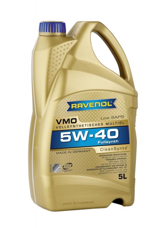 Моторное масло RAVENOL VMO, 5W-40, 5л, 4014835723856
