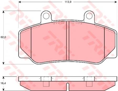 Колодки дисковые Передние, TRW, GDB970