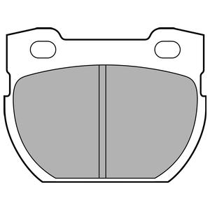 Колодки дисковые, DELPHI, LP1847