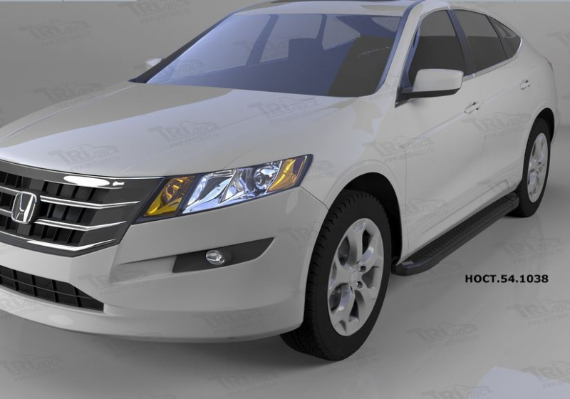 Пороги алюминиевые (Sapphire Black) Honda (Хонда) CrossTour (2010-) (нагр. до 40 кг.), HOCT541038