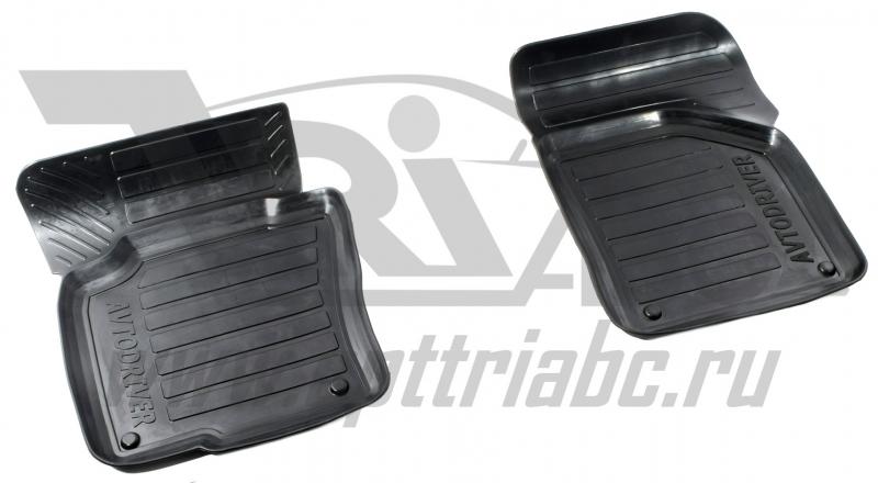 Коврики салона резиновые с бортиком для Volkswagen Golf 6 (2008-2012) (2 передних), ADRPR20242