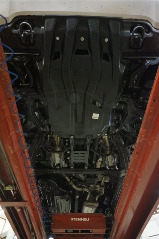 Защита картера двигателя и радиатора Toyota Land Cruiser(Тойота Ленд Круизер)200 V-4.5D(2008-15-)/Le
