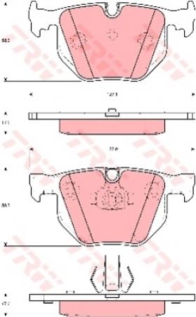 Колодки дисковые Задние, TRW, GDB1499