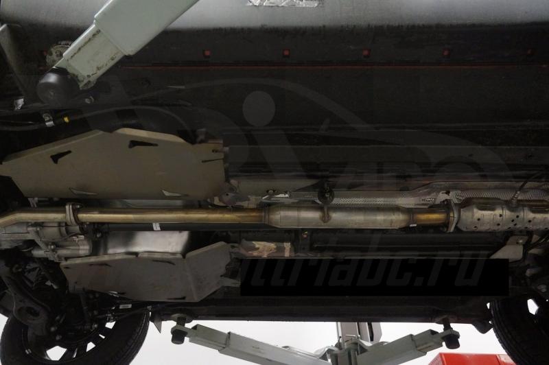 Защита топливного бака Kia Sportage (Киа Спортаж) V-все (2010-02.2016)из 2-х частей (Алюминий 4 мм),