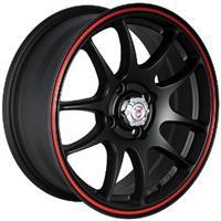 Колесный диск NZ SH524 5.5x13/4x98 D57.1 ET35 черный матовый с красным ободом (MBRS)