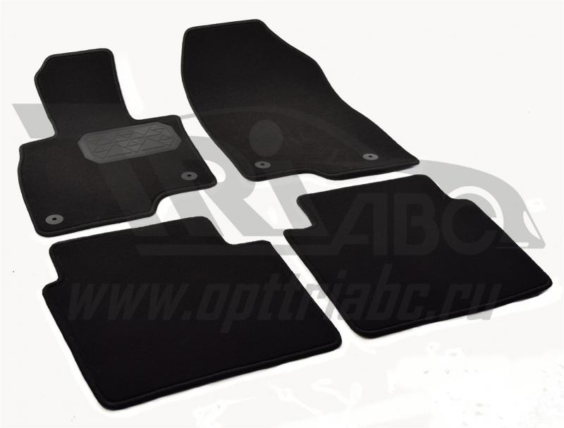 Коврики салона текстильный Mazda 6 (GJ) (2013-) (Велюр, полиамид)(подпятник п/у)(черные), NPA00VTE55
