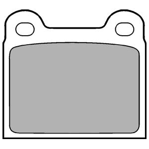 Колодки дисковые, DELPHI, LP18