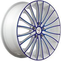 Колесный диск NZ F-49 6.5x16/5x112 D58.6 ET33 белый +синий (W+BL)