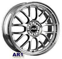 Колесный диск Asa AR1 6.5x15/4x114,3 D60.1 ET38 серебристый с полированным ободом