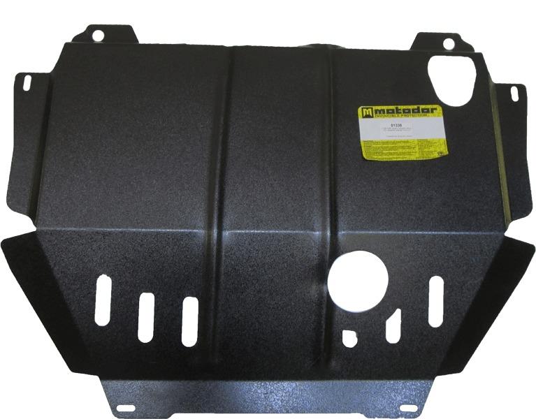 Защита картера двигателя, КПП Mitsubishi Outlander III 2012- V=2,0, 2,4 (сталь 2 мм), MOTODOR01338
