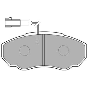 Колодки дисковые, DELPHI, LP1750