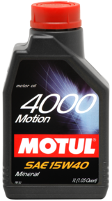 Масло моторное MOTUL 4000 MOTION, 15W-40, 1л, 102815
