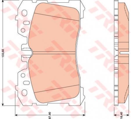 Колодки дисковые Передние, TRW, GDB3473