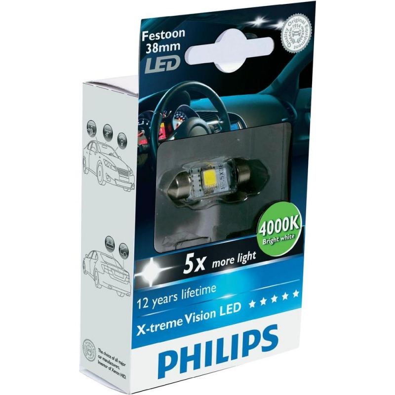 Лампа, 12 В, C5W, PHILIPS, 70340530