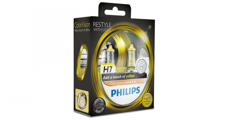 "Лампа ""ColorVision"", 12 В, 55 Вт, H7, PX26d, PHILIPS, 12972CVPYS2"